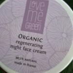 Testbericht Love Me Green regenerierende Nachtcreme
