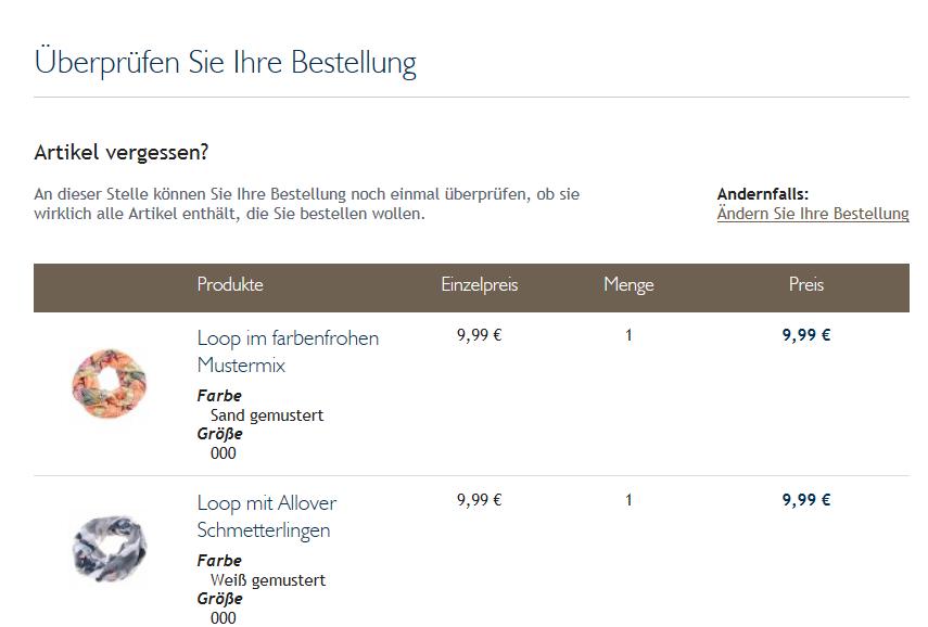 Bestellung Jeans Fritz