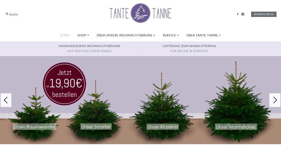 weihnachtsb ume online bestellen bei tante tanne. Black Bedroom Furniture Sets. Home Design Ideas