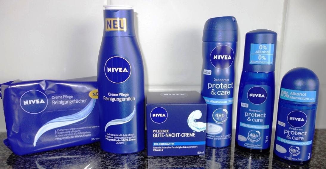 blaue Pflegeserie Nivea