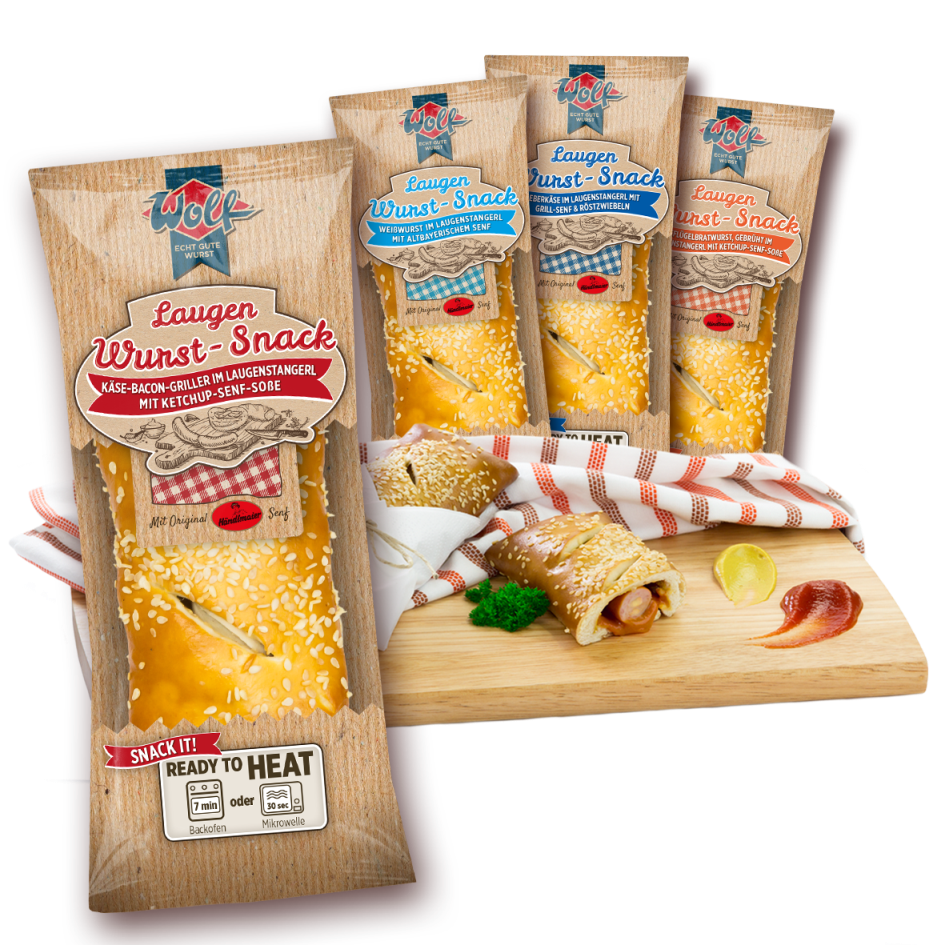 WOLF_Laugen-Wurst-Snack_Packshot-Zusammenstellung