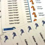 Personalisierbare Etiketten für Kinder von StickerKid